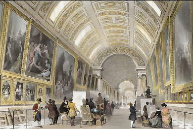 The Grand Gallery of the Louvre