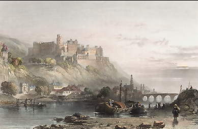 The Town and Castle of Heidelberg, Rhine
