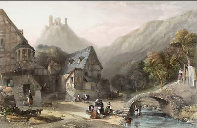 Valley near Oberwesel, Rhine