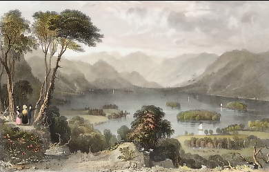 Derwent Water, from the Castle Head, Cumberland