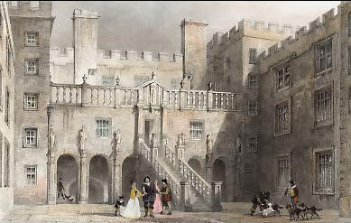 The Court Yard, Chillingham Castle