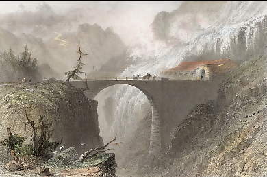 Bridge and Avalanche Gallery, St Bernardin, Grisons