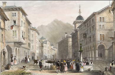 Street in Sion, Valais