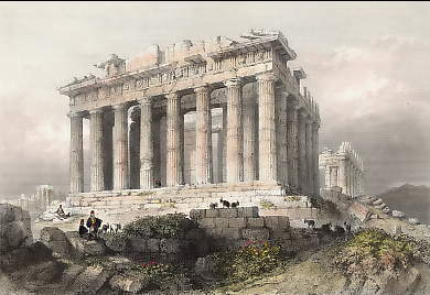 The Parthenon at Athens