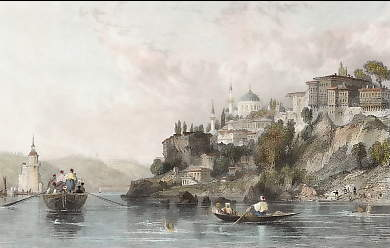 Scutari and the Maiden Tower on the Bosphorus