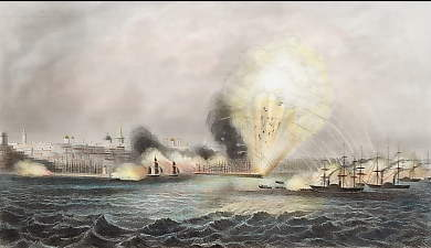 Bombardment of Odessa By the English and French, April 22. 1854