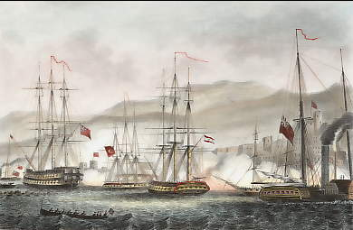 Attack on Sidon By Commodore Charles Napier