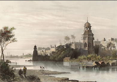View of Delhi from the River Shewing the King´s Palace