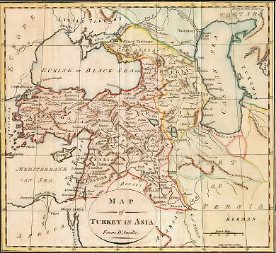 Map of Turkey in Asia from D´Anville