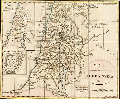 Map of Judea, Syria, &c.