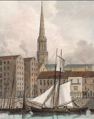 St. George´s Church from the Docks, Liverpool