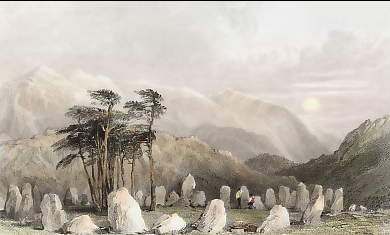 The Druid´s Stones, Near Keswick & Skiddaw in the Distance, Cumberland