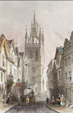 St. Nicholas´Church, from Middle Street, Newcastle,Tyne