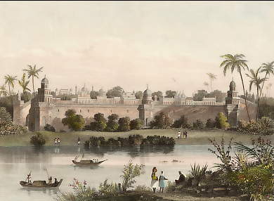 View of the Palace of Agra, from the River