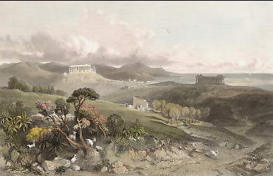 The Temples of Juno Lucina and Concord, at Girgenti