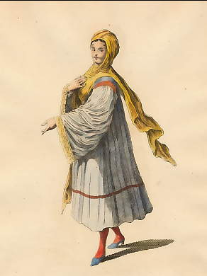 Habit of a Young Lady of Tine, an Island in the Archipelago in 1700