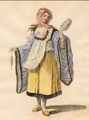 Habit of a Young Lady of Argentiera, an Island in the Archipelago in 1700