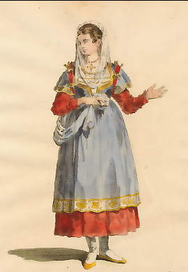Habit of a Young Lady of Paros, an Island in the Archipelago, 1568