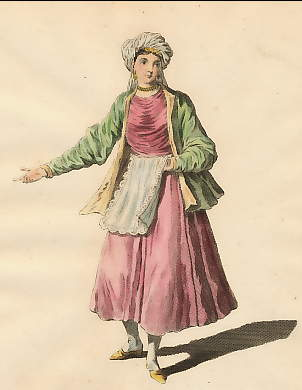 Habit of a Young Lady of St. John De Patmos, an Island in the Archipelago, in 1700