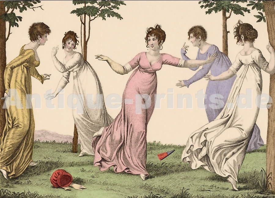 Antique Prints Leisure Le Bon Genre Nd14 Les Quatre Coins