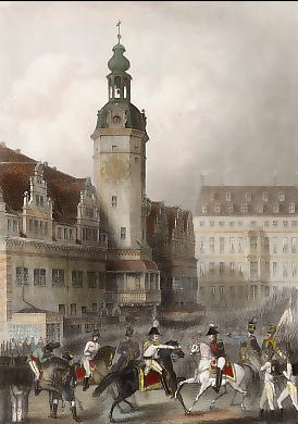 Leipzig in the Occupation of the Allied Powers, Meeting of the Emperors of Austria & Russia at the Town Hall