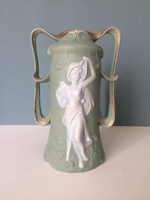 "Sage Green Vase ""à L´Antique"""