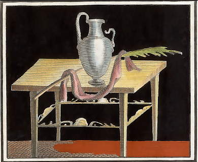 (Herculaneum: Fresco, Still Life with Vase)