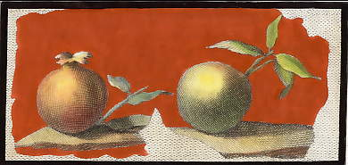 (Herculaneum: Fresco, Still Life with Pomegranate and Apple)