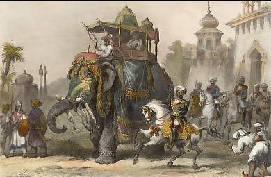 The Nana Sahib with His Escort Leaving Lucknow to Meet the Rebel Force Advancing from Malwa