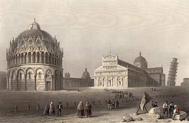 Baptistery Cathedral and Leaning Tower, Pisa