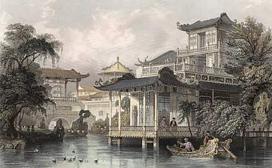 House of a Chinese Merchant Near Canton