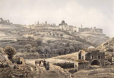 Jerusalem from Job´s Well
