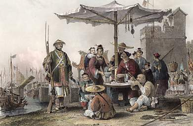 Rice Sellers at the Military Station of Tong-Chang Foo