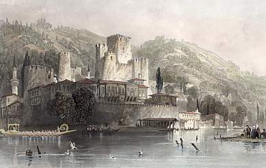 Anatoli Hissar, or the Castle of Asia and the Hill of Kandeli on the Bosphorus