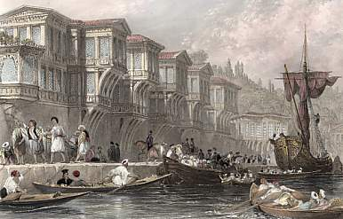 The Palace of Said Pasha, on One of the Rapids of the Bosphorus