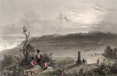 The Plains of Abraham Near Quebec, the Spot Where General Wolfe Fell