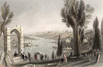 The Golden Horn, from the Cemetery of Eyoub