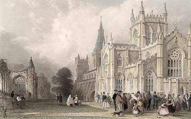 The New Church and Abbey, Dunfermline, Fifeshire