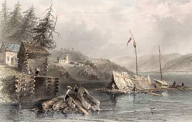 March, on Lake Chaudière