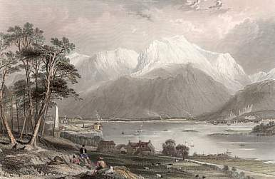Ben Nevis and Entrance to the Caledonian Canal, Invernesshire