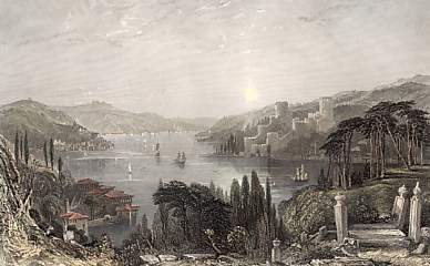 Roumeli Hissar, or the Castle of europe, on the Bosphorus