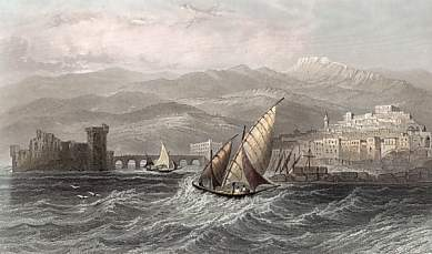 Sidon And Mount Lebanon from the Sea