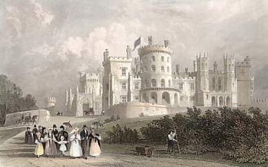 South Front of Belvoir Castle, Leicestershire, Seat of the Duke of Rutland