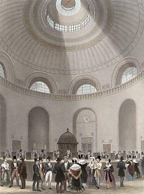 The Rotunda, Bank of England, Payment of Dividens