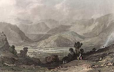 Rossthwaite, Borrowdale, from the Road to Watenlath