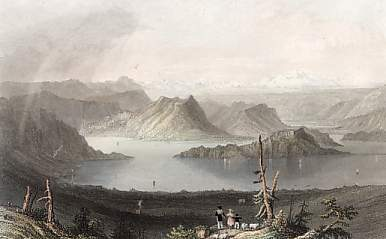 The Lake of Lucerne from the Righi, Canton Unterwalden