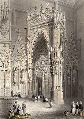 Porch of the Cathedral, Ratisbon