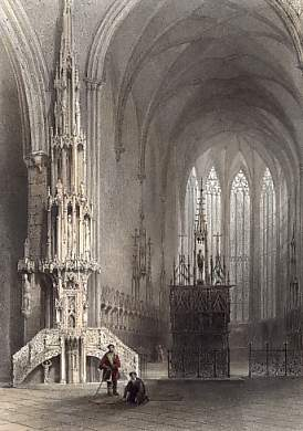 Interior of the Cathedral at Ulm