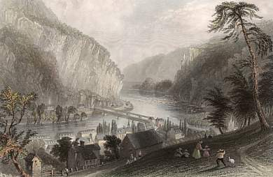 Harpers Ferry, from the Potomac Side
