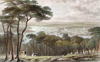 Devonport, Dock -Yard & the River Tamar, from Mount Edgcumbe